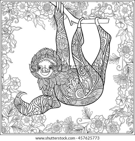 sloth pictures baby coloring pages - photo#28