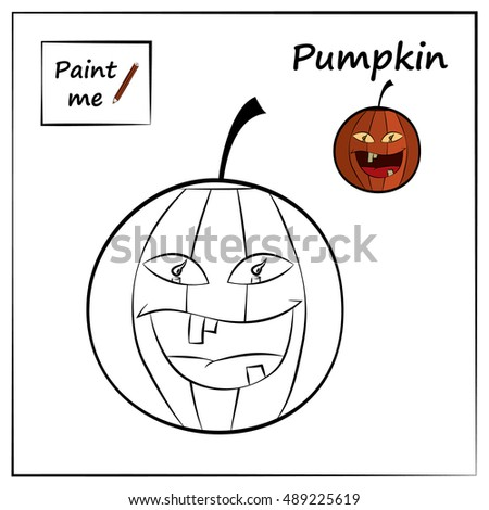 Coloring Page With Pumpkin Educational For Child Paint Me Halloween