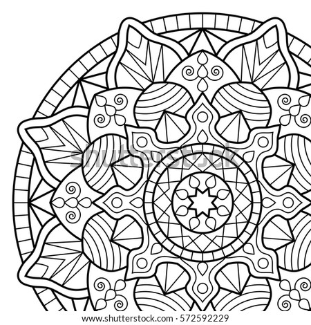 Coloring Pages Book Mandala Indian Antistress Medallion Abstract Islamic Flower Arabic Henna