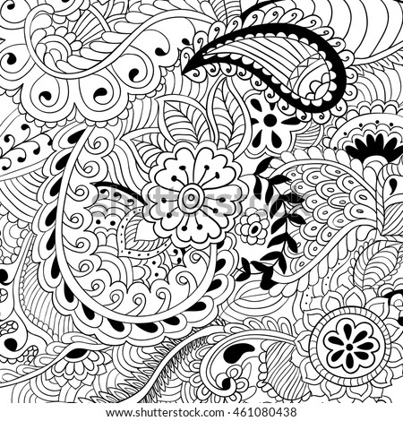 Coloring pages for adults.Abstract vector illustration