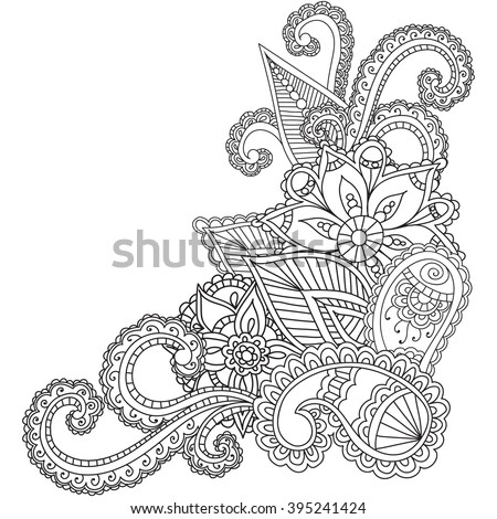 Henna Design Coloring Pages Sketch Coloring Page