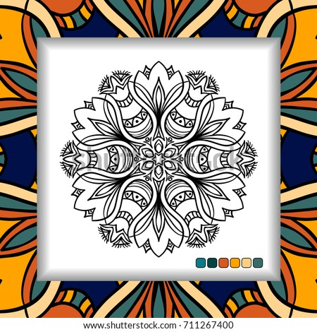 Coloring Pages For Adults Mandala Relaxation Art Meditation Hand Drawn Henna
