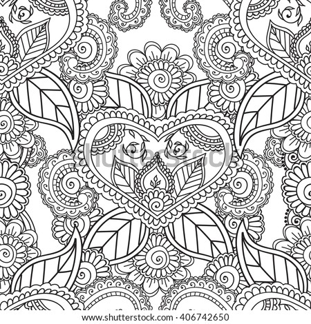 Coloring pages adults coloring bookseamless black stock Coloring books for adults india