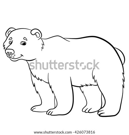coloring pages wild animals cute bear 426073816 shutterstock. Black Bedroom Furniture Sets. Home Design Ideas