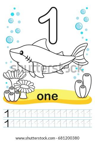 Coloring Printable Worksheet Kindergarten Preschool We Stock Vector ...