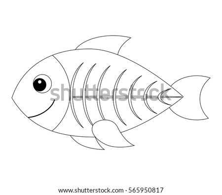 X Ray Fish Stock Images Royalty Free Images Vectors X Fish Coloring Page