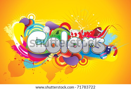 colors abstract vector illustration