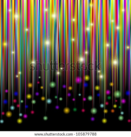 Colors and Glitter Stripes Abstract Pattern - stock vector