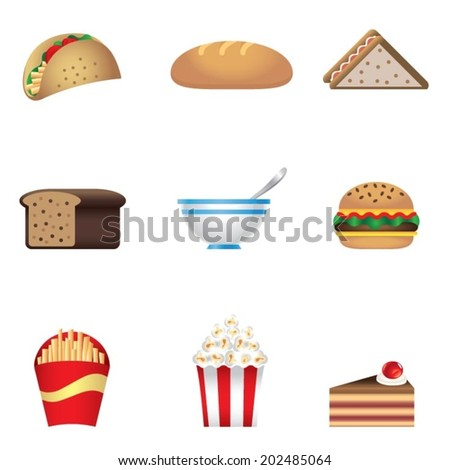 Colors fast food icon