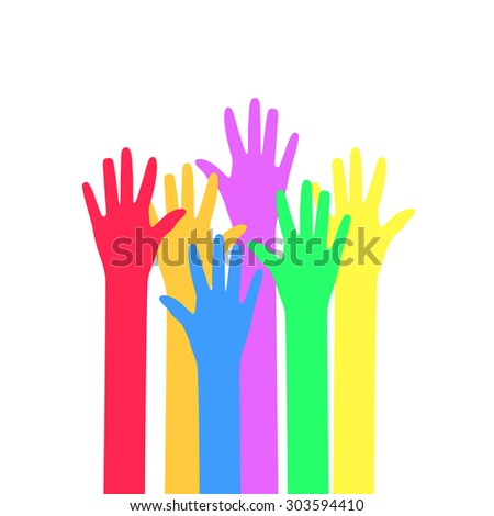Colors hands up