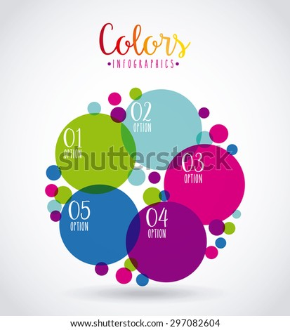 colors infographics design, vector illustration eps10 graphic