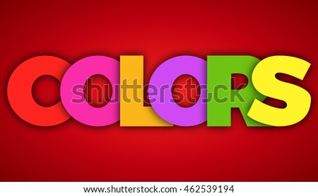 colors letters vector banner sign