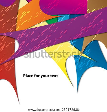 colors lines background for your text - stock vector