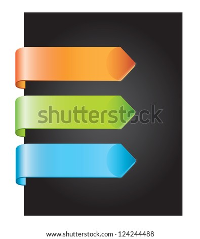 colors tag over black background vector illustration - stock vector