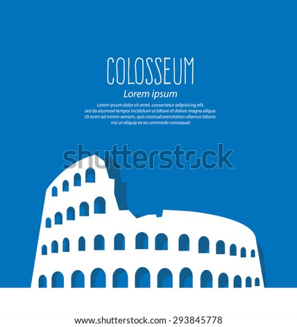 Colosseum in Rome, Italy, Travel and tourism concept vector Illustration. - stock vector