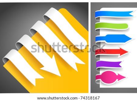 Colour bookmarks - stock vector