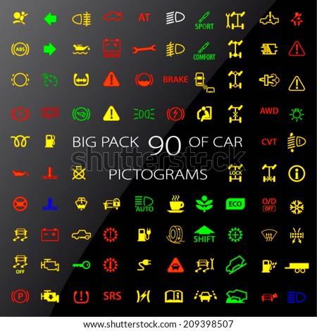 Dashboard Lights Stock Images RoyaltyFree Images Vectors - Car image sign of dashboarddashboard warning lights stock images royaltyfree images