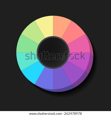 Colour Spectrum Circle, abstract background, vector eps10 illustration - stock vector