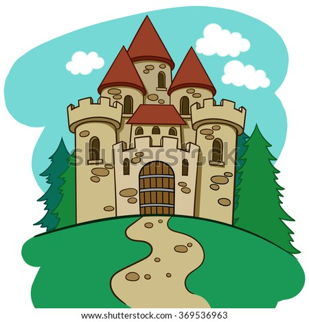 Colour Vector Cartoon Illustration Fun Medieval Stock Photo (Photo ...