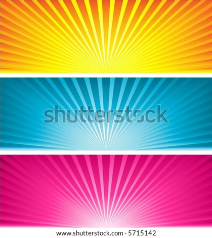 Coloured starbursts