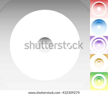 Colourful background set with circle, oval shapes