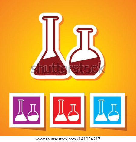 Colourful editable icon of Laboratory Glass (Beakers)