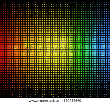 Colourful glowing dots matrix background. Vector illustration in EPS10 with transparencies. High-res jpg included - stock vector