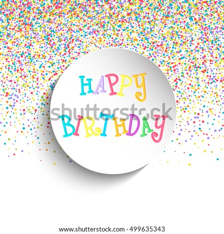 Colourful Happy Birthday Background Design