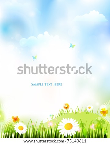colourful spring bakcground design - stock vector