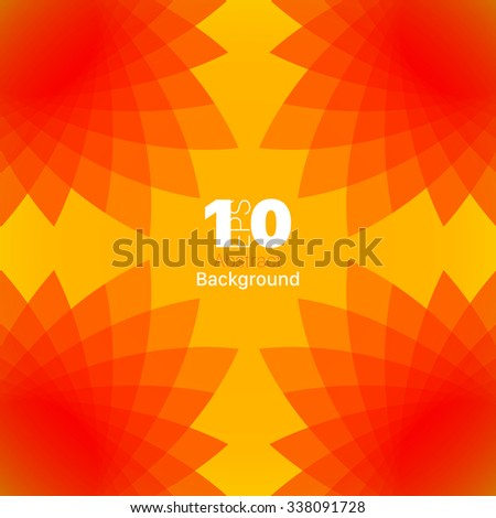 Colourful Sunny kaleidoscopic Abstract Background - stock vector