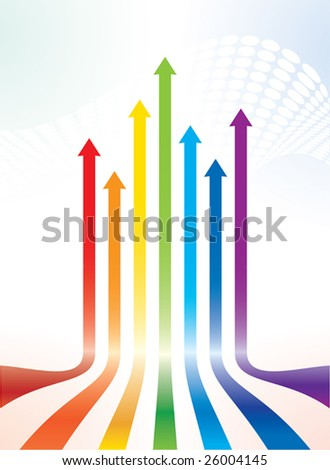 Colourful vector arrows - stock vector
