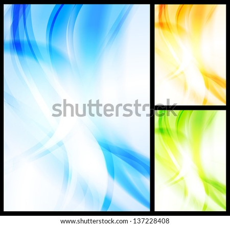 Colourful vector wavy backgrounds - stock vector