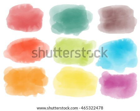 Colourful Watercolor Brush for design work