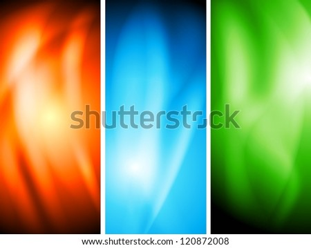 Colourful wavy banners. Vector illustration eps 10. Gradient mesh included - stock vector
