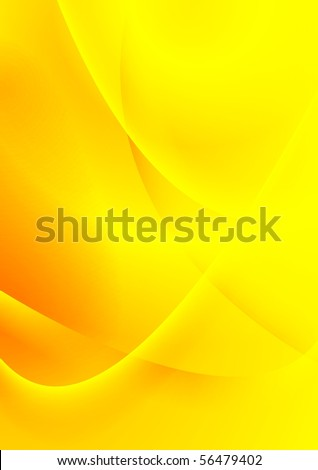 Colourful yellow smooth waves background. Vector design card eps 10 - stock vector