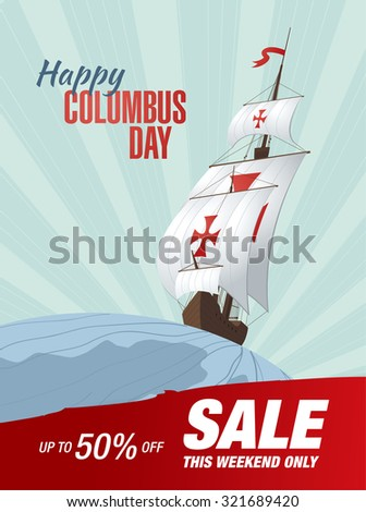 Columbus Day. Sale