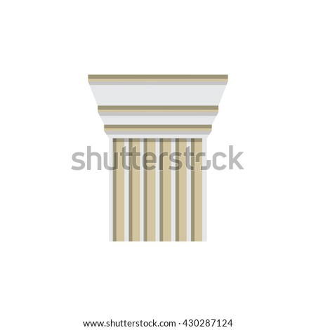 Column logo design template. Vector illustration column capitals classical Greek or Roman style architecture bureau logotype. Logo icon.