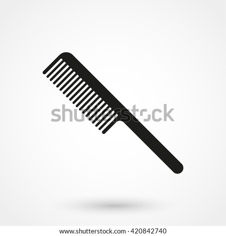 Comb icon isolated on background. Modern flat pictogram, business, marketing, internet concept. Trendy Simple vector symbol for web site design or button to mobile app. Logo illustration - stock vector