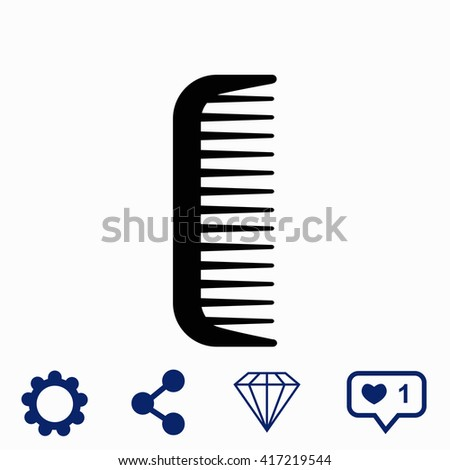Comb icon. Universal icon to use in web and mobile UI - stock vector