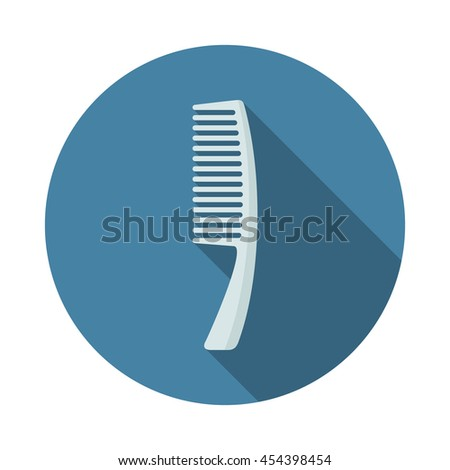 Comb icon with long shadows - stock vector