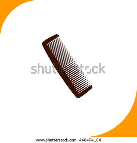 Comb sign. Brown icon on white background