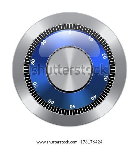 Combination Lock. Combination Safe Lock. Vector Illustration.  - stock vector