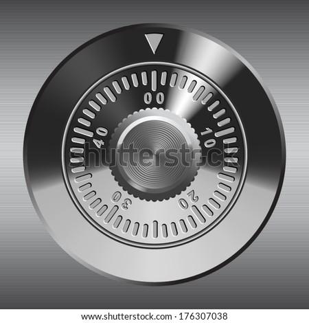 Combination lock, realistic vector illustration. - stock vector