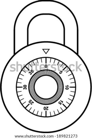 combination lock vector illustration stock vector royalty free rh shutterstock com Master Combination Lock Clip Art Master Lock Combination
