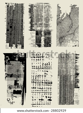 Combination of a variety of texture - stock vector
