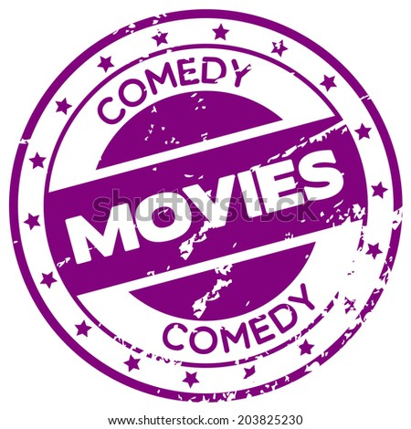 comedy movies rubber stamp - stock vector