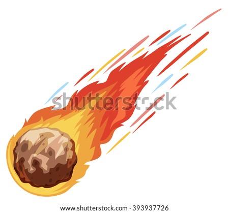 comet falling down fast illustration stock vector 393937726 rh shutterstock com Meteoroid Clip Art Real Meteoroid Clip Art Falling
