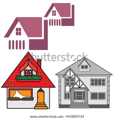 Comfortable house for shelter - stock vector