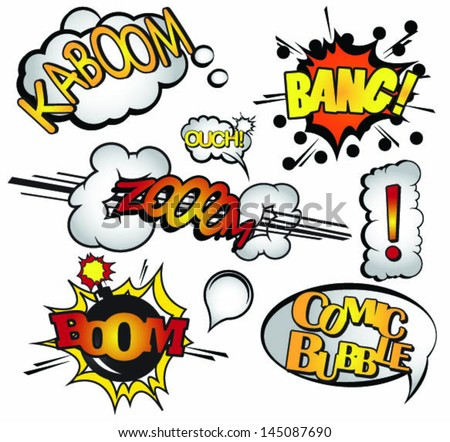 Comic Book Elements- Vectors - stock vector