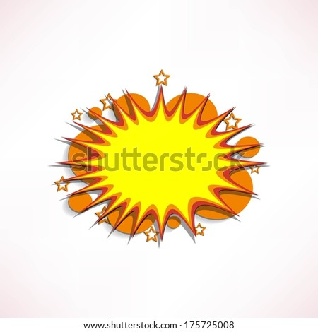 Comic book explosion. - stock vector
